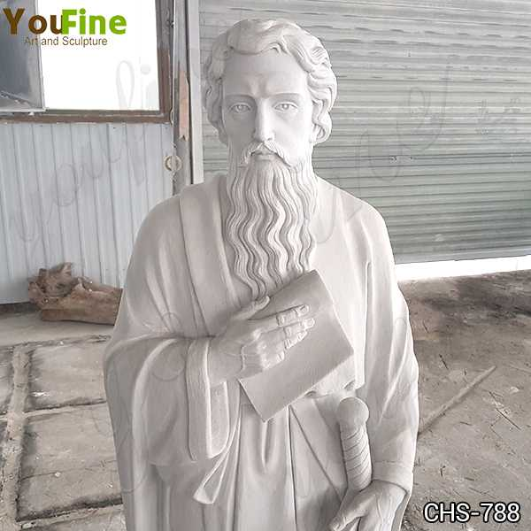 Marble St. Paul Statue Church Supply for Sale