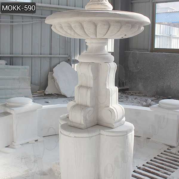 Marble Tiered Outdoor Water Fountain Simple Design Wholesale