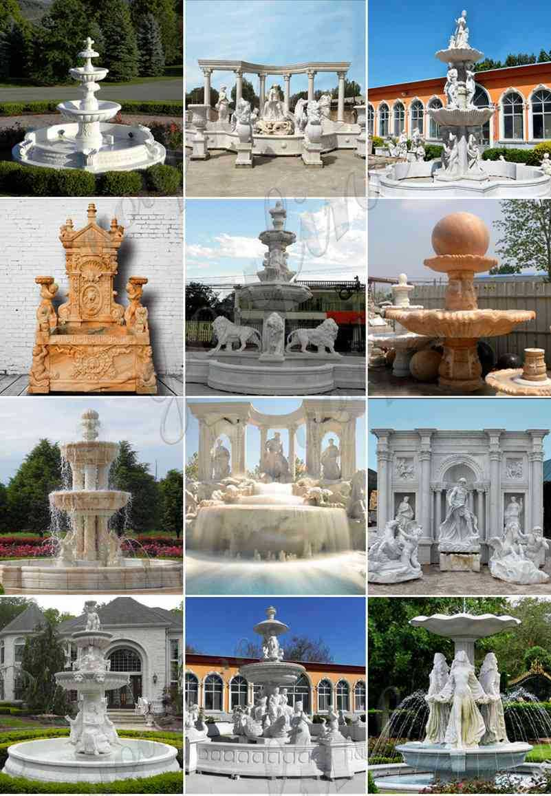 Marble Tiered Outdoor Water Fountain Simple
