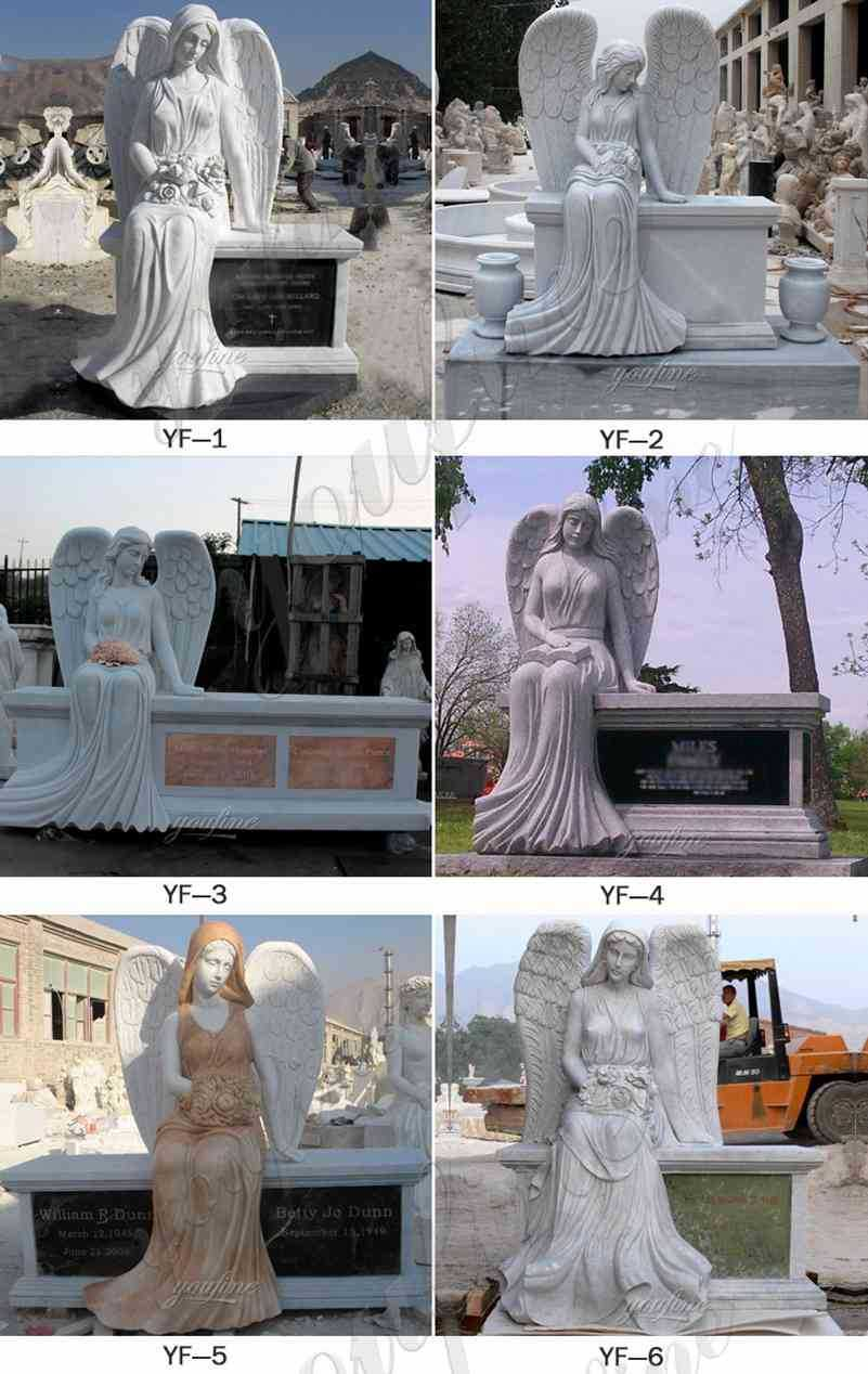 Marble Weeping Angel Headstone