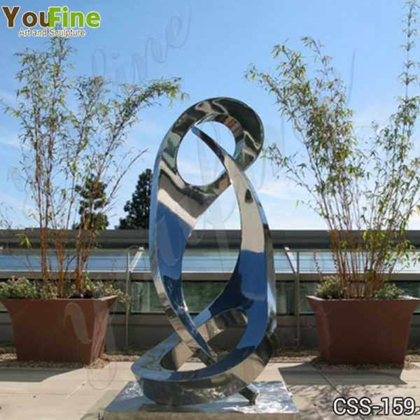 Modern Abstract Yin and Yang Stainless Steel Sculpture Supplier
