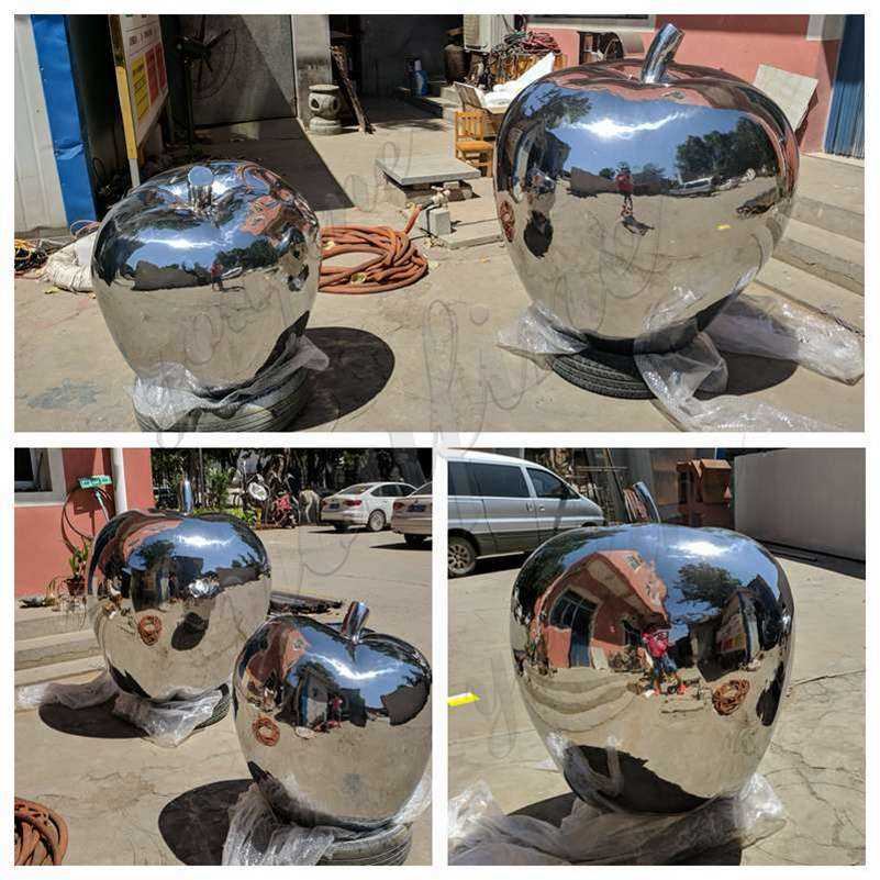 Modern Stainless Steel Apple Sculptures for Sale