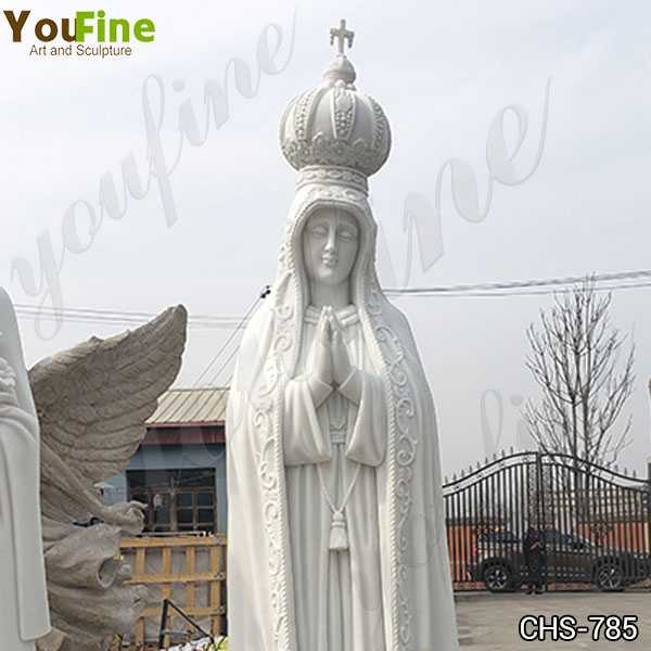 Our Lady of Fatima Statue with Exquisite Crown for Sale