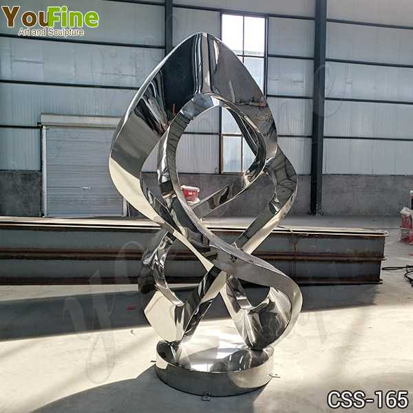 Contemporary Outdoor Abstract Metal Lawn Sculpture Supplier CSS-165