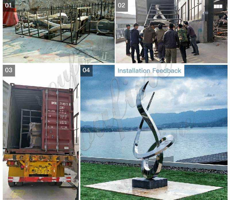 Outdoor Abstract Metal Sculpture Manufacturer