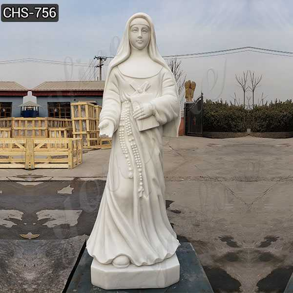 Outdoor Catholic White Marble St Mary MacKillop Statue for Sale CHS-756