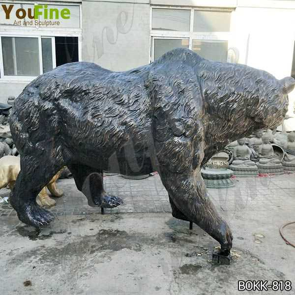 Outdoor Life Size Bronze Grizzly Bear Statue Sale