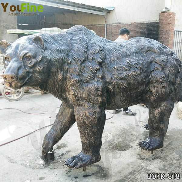 Outdoor Life Size Bronze Grizzly Bear Statue