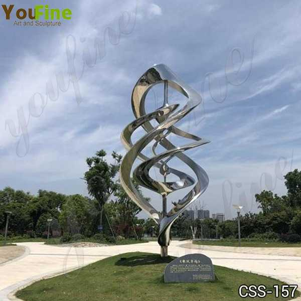 Outdoor Mirror Polished Abstract Stainless Steel Sculpture Supplier