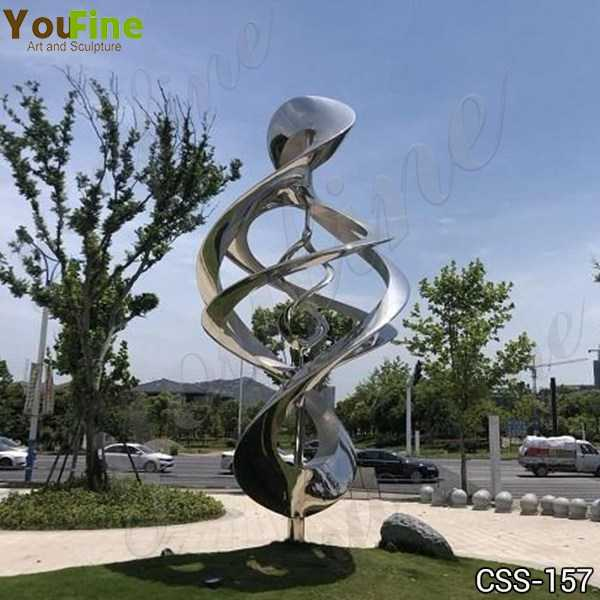 Outdoor Mirror Polished Abstract Stainless Steel Sculpture