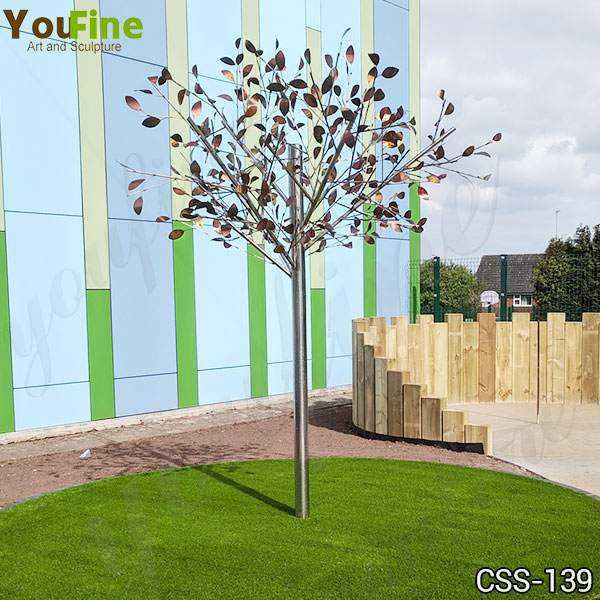 Outdoor Stainless Metal Tree Sculpture for Garden Suppliers CSS-139