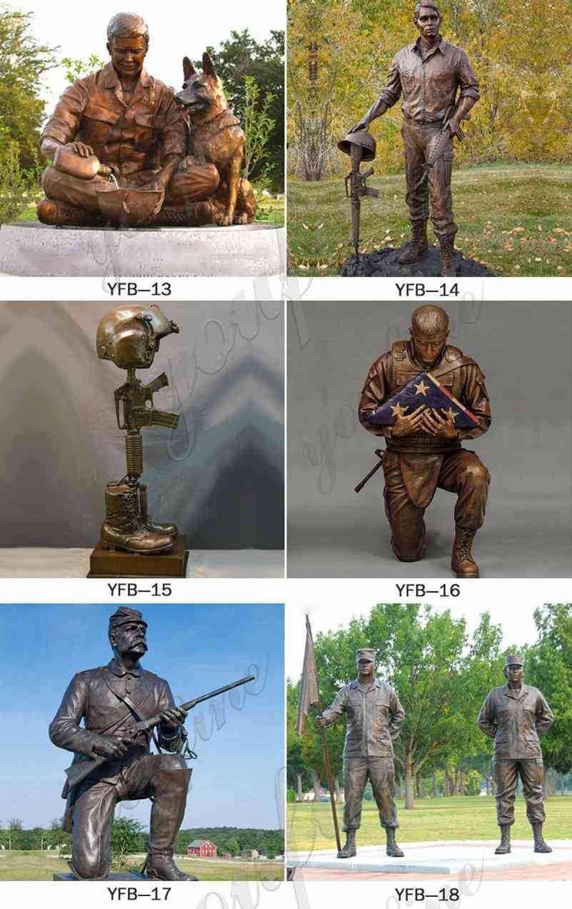 Outdoor War Memorials Bronze Vietnam Soldier Statue