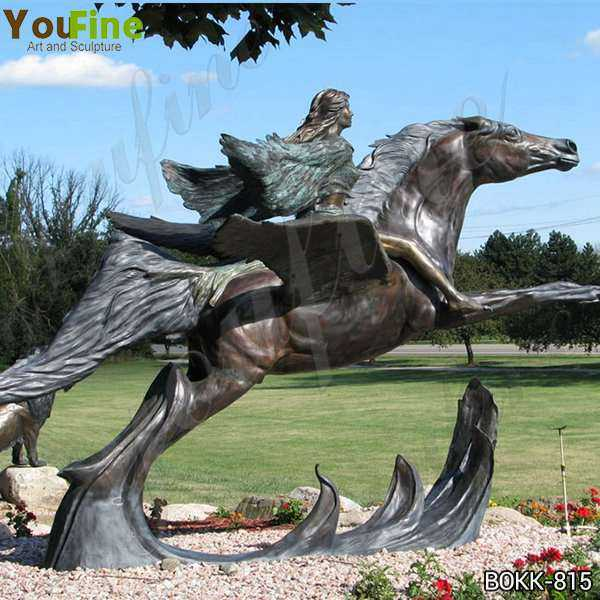 Pegasus Bronze Garden Statue for Sale