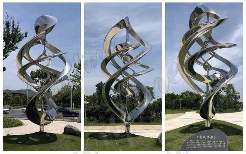 Polished Abstract Stainless Steel Sculpture