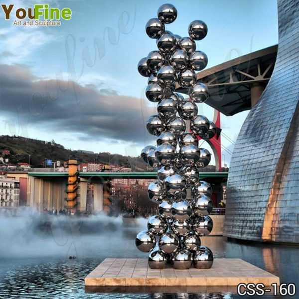 Popular Stainless Steel Ball Sculpture Guggenheim Museum Bilbao Artwork Replica CSS-160