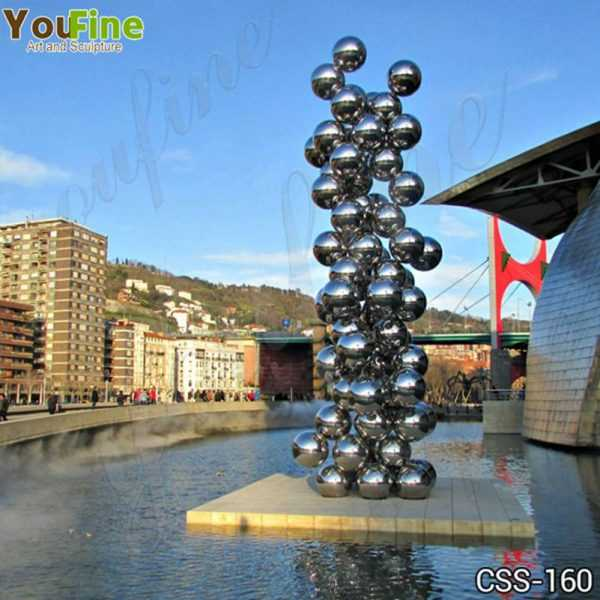 Popular Stainless Steel Ball Sculpture Guggenheim Museum Bilbao Artwork Replica