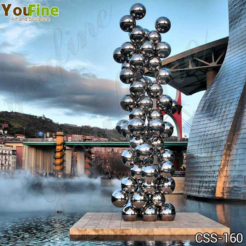 Popular Stainless Steel Ball Sculpture Guggenheim Museum Bilbao Artwork Replica CSS-160
