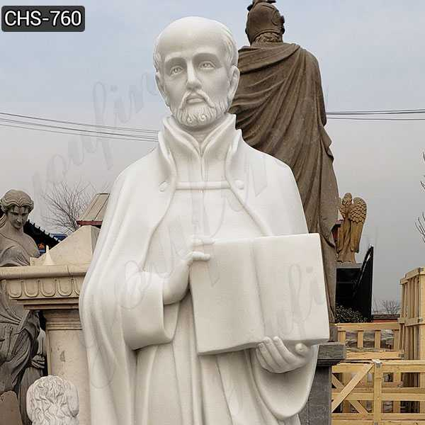 Religious Full Size Marble St. Ignatius of Loyola Statue Supplier