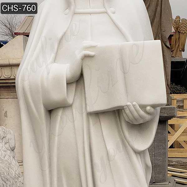Religious Full Size Marble St. Ignatius of Loyola Statue