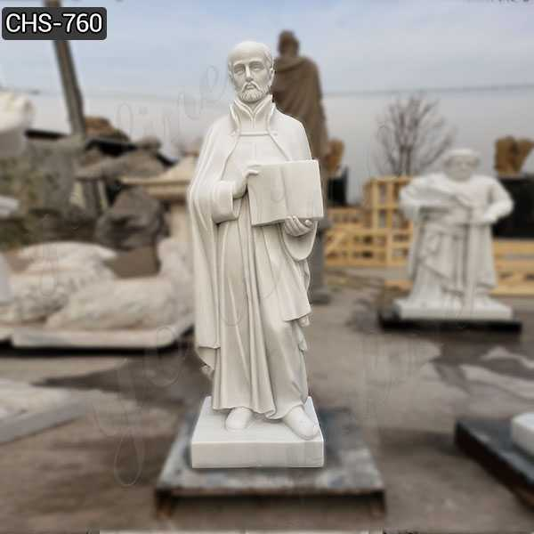 Religious Full Size Marble St. Ignatius of Loyola Statue Supplier CHS-760