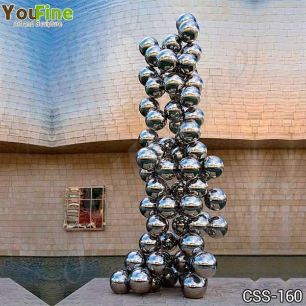 Stainless Steel Ball Sculpture Guggenheim Museum Bilbao Artwork Replica