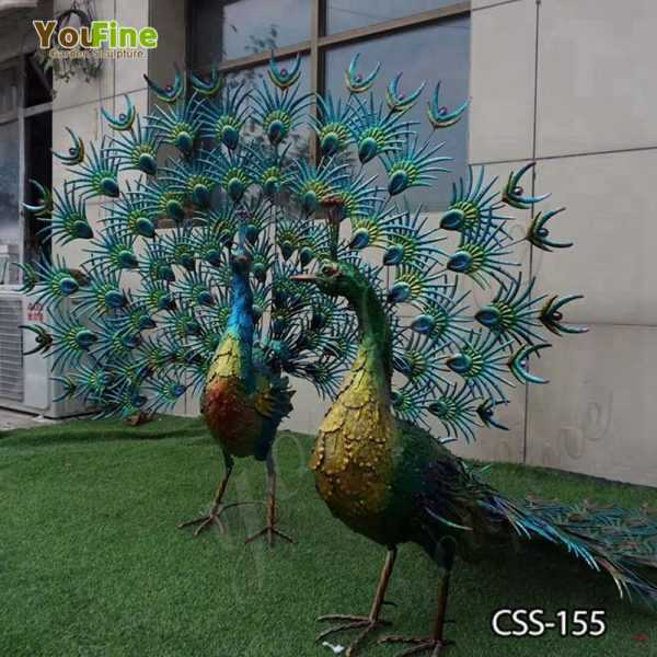 Stainless Steel Peacock Landscape Sculpture