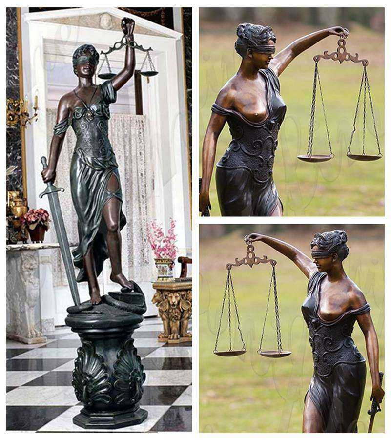 Themis sculpture bronze