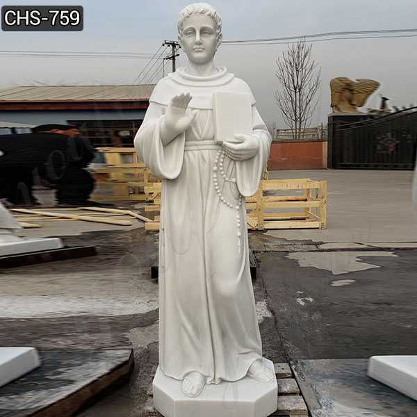 Custom Made White St. Thomas Aquinas Marble Statue for Sale CHS-759