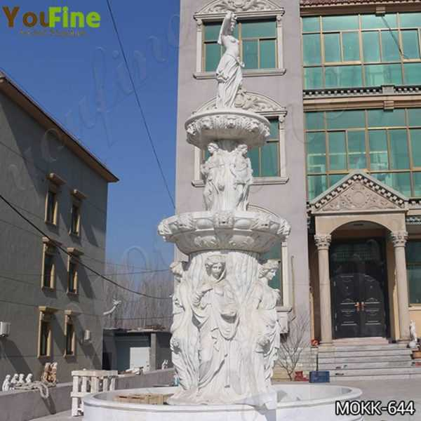 Tiered Garden Marble Statuary Fountain Factory Supply