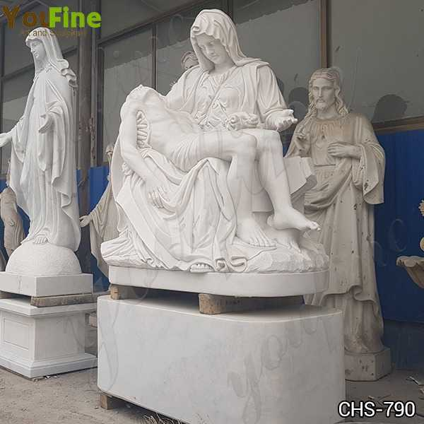 White Marble Pieta by Michelangelo Statue for Sale