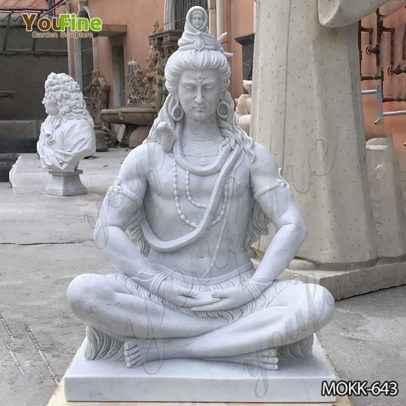Custom Made White Marble Shiva Statue for Sale MOKK-643