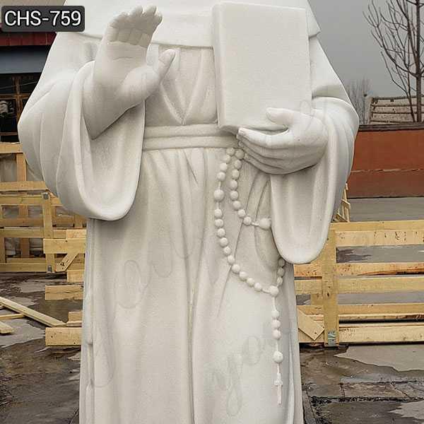 White St. Thomas Aquinas Marble Statue