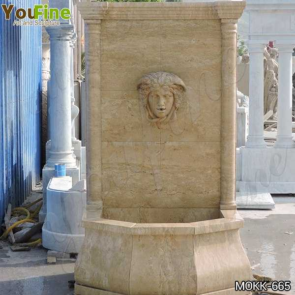 Buy Yellow Travertine Medusa Head Wall-Mounted Fountain Online MOKK-665