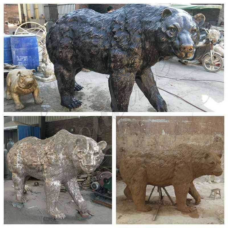casting bronze bear statue for sale