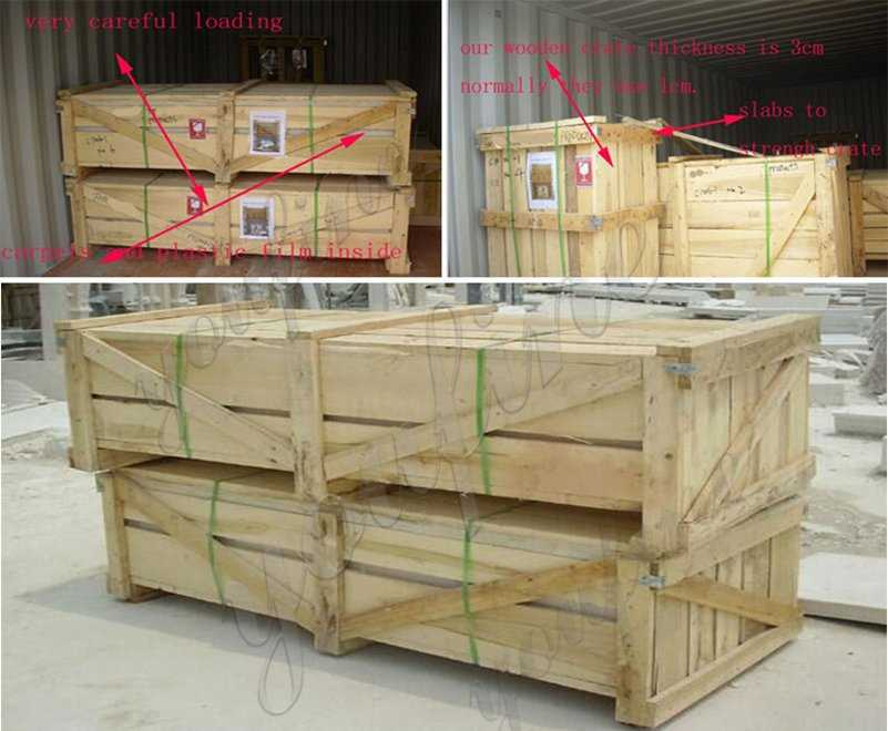package of Large Hunan White Marble Flower Pot