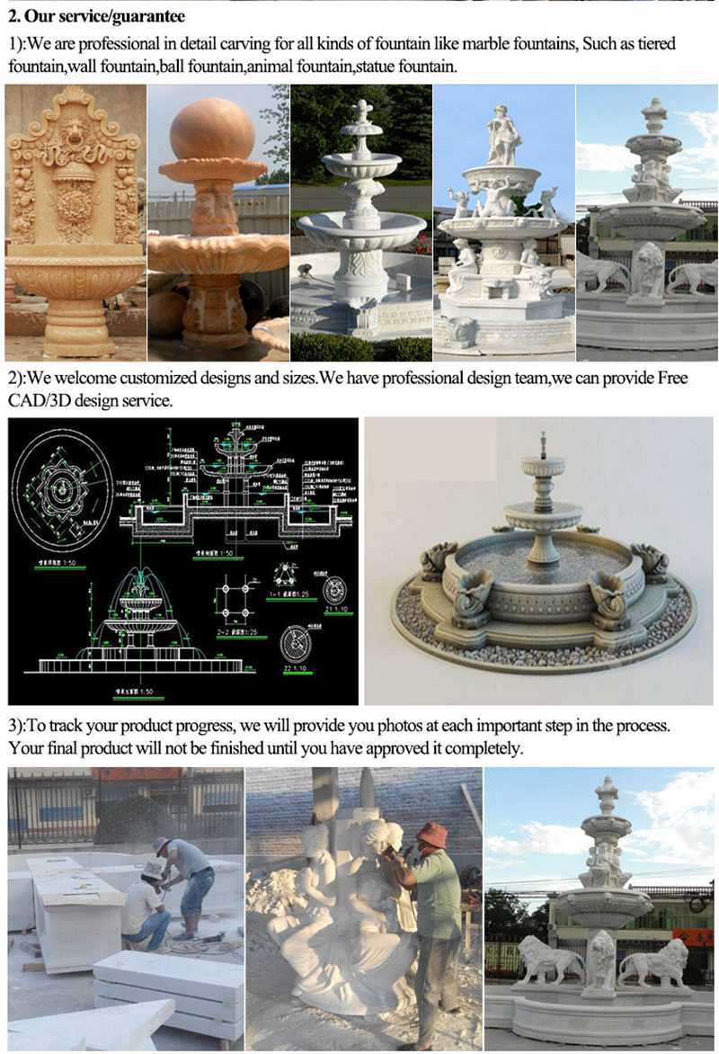 process of Outdoor Marble Water Wall Fountain