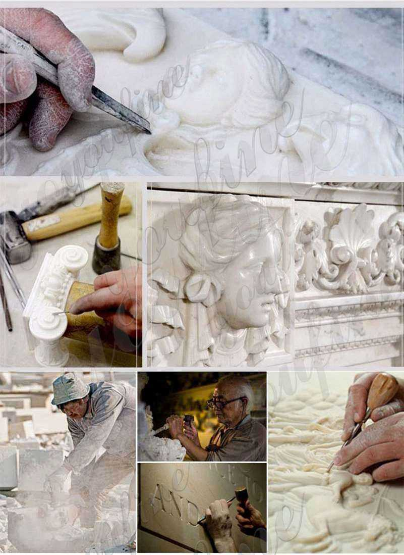 process of Saint Sister Marble Statue Catholic
