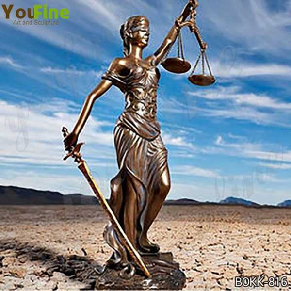 the Goddess of Justice Themis Bronze Sculpture