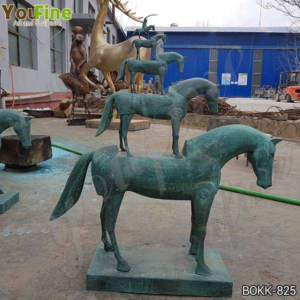 New Antique Bronze Metal Horse Sculpture Design for Sale BOKK-825