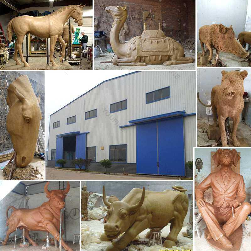 Antique Garden Bronze Horse Sculpture