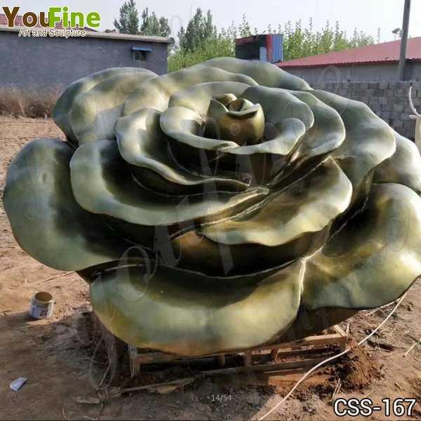 Beautiful Stainless Steel Flower Garden Sculpture Factory