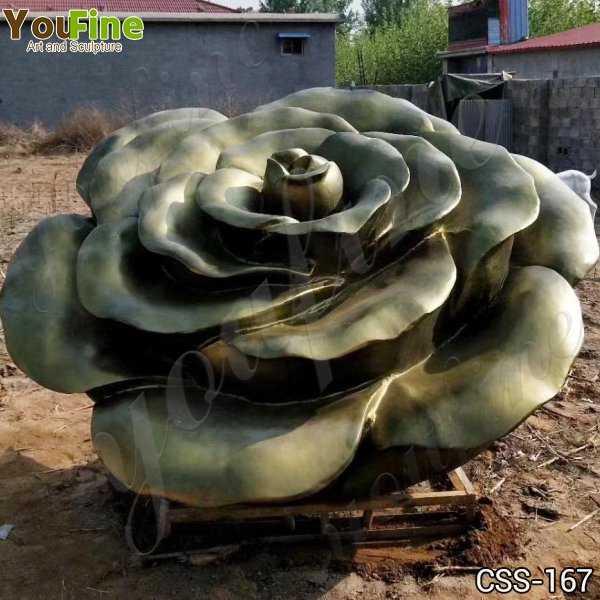 Beautiful Stainless Steel Flower Garden Sculpture