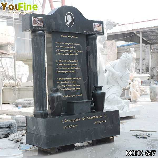 Black Granite Upright Headstones Manufacturers
