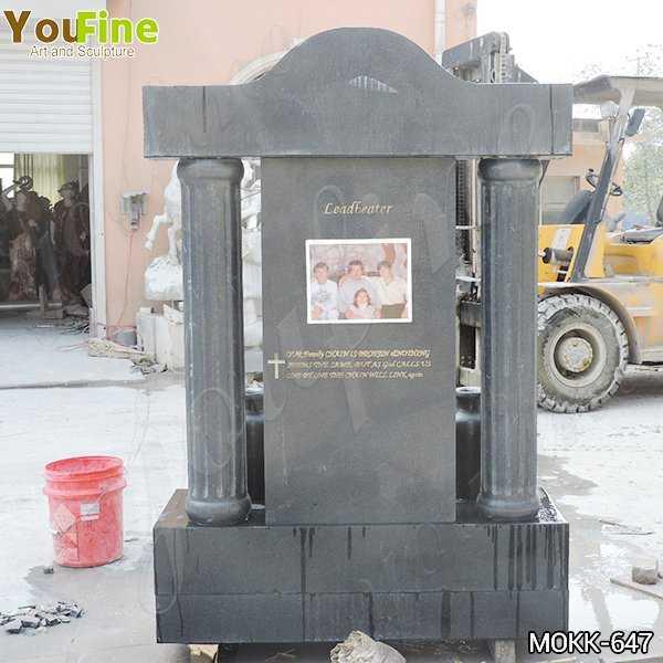 Black Granite Upright Headstones