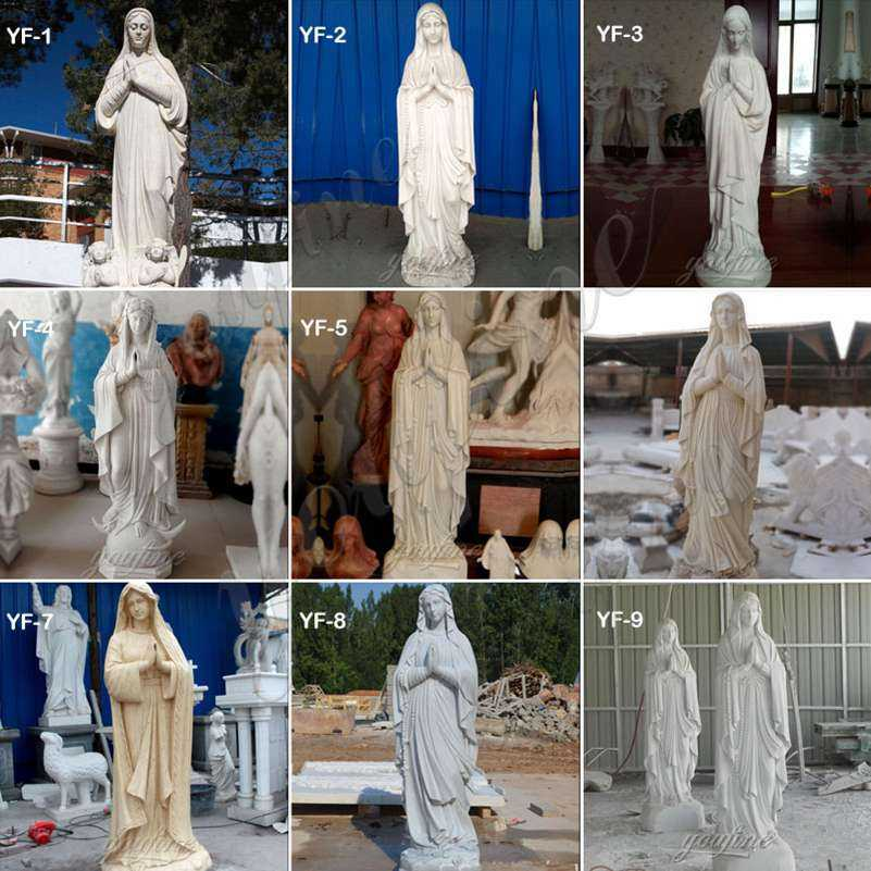 Blessed Mother Virgin Mary Marble Statue