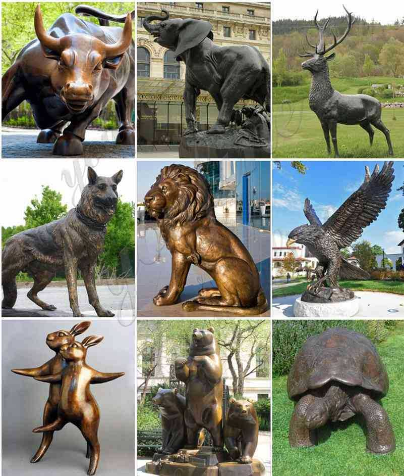 Bronze Chinese Lion Statues