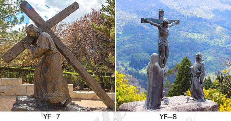 Bronze Crucifixion of Jesus Garden Statue