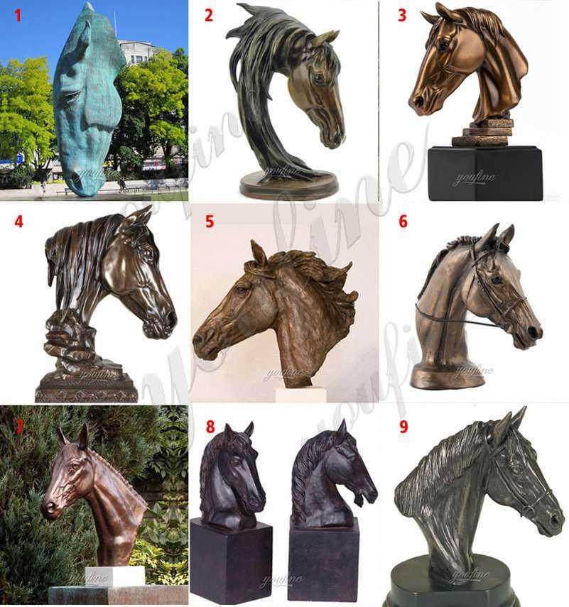 Bronze Horse Head Statue Manufacturer