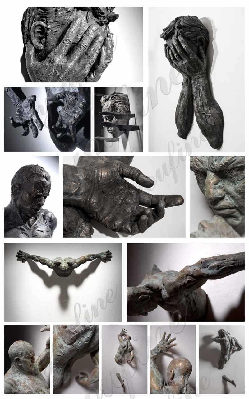 Bronze Matteo Pugliese Abstract Nude Man Sculpture Suppliers