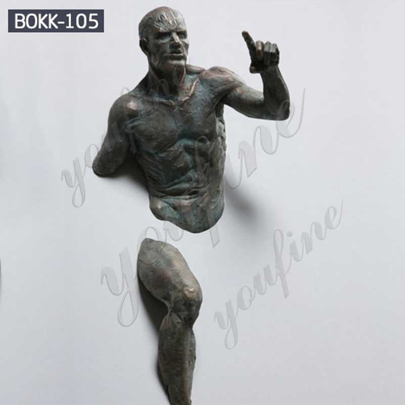 Bronze Matteo Pugliese Replica Abstract Nude Man Sculpture Suppliers